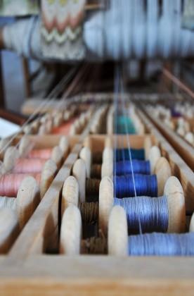 rocchetti di filo nel laboratorio giuditta brozzetti
